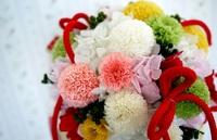 会場装飾を和テイストの装花でコーディネート