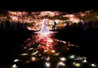 ブライダル業界初の挙式演出!「チームラボ×ホテル椿山荘東京」が新スタイルで誓う人前式の予約を開始