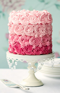 「オンブレ」がウエディングケーキのトレンド!