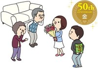 50周年 金婚式の名前の意味と関連するプレゼント