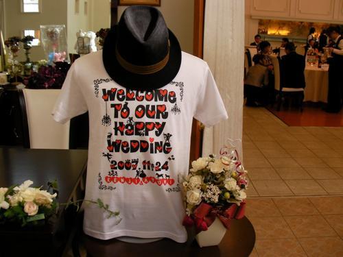 デザイナーの兄が作ってくれたウェルカムTシャツ