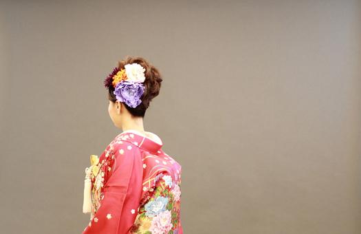 和装のヘアスタイル