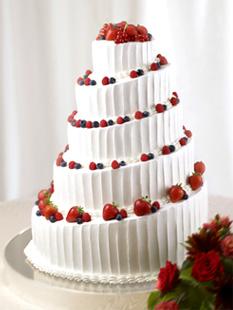 螺旋状に形作ったショートケーキ