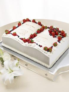 ブック型のケーキ