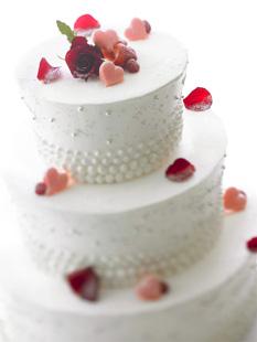 シンプルな三段ケーキ