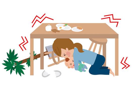 赤ちゃんのいる家庭の災害対策