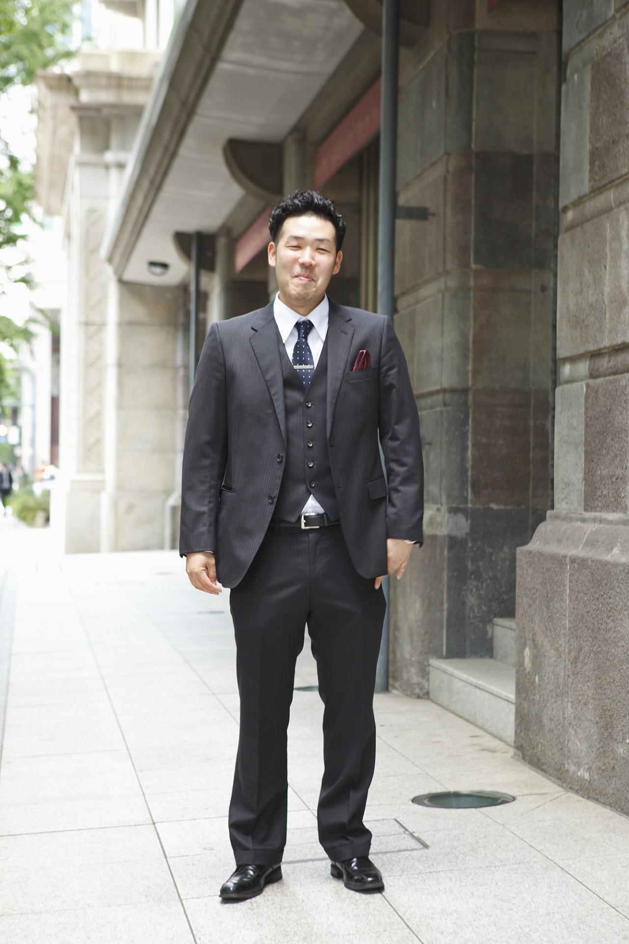 56e7f1361b98f T.S様. 30代  アルテリーベ横浜本店  ゲスト  スーツ  男性  結婚式・結婚パーティ ...