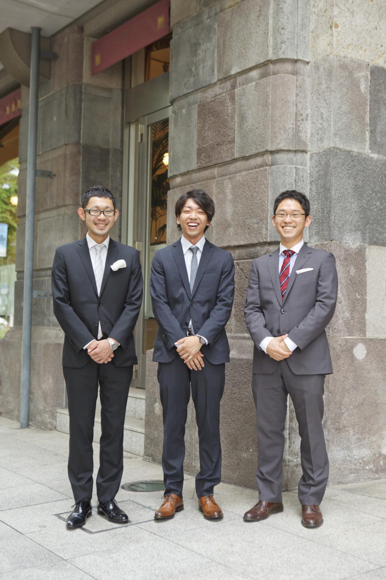 左:KT様、中央:いとーちゃん様、右:GK様
