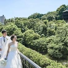 庭園での花嫁御幸
