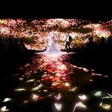 ホテル椿山荘東京の椿と花々と蝶で表現した幻想的な挙式