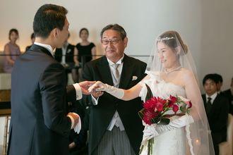 握手のセレモニー ご家族の絆が深まる演出です