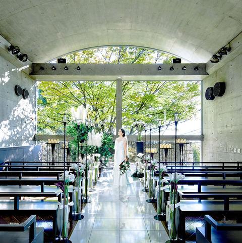 コンクリートのボールド天井とクロスがシンプルでありながら印象的。