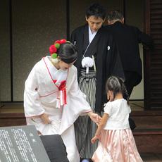 神社から招喜庵にて