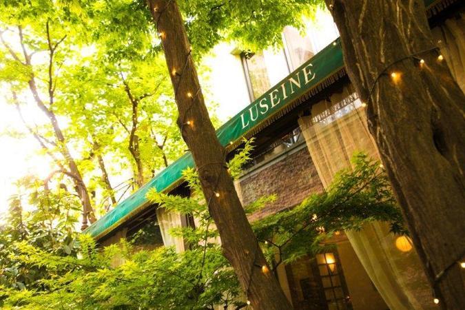 光と緑に囲まれた開放感あるレストラン