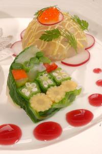 野菜のテリーヌ!かわいい一品です!