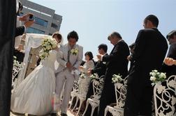 雲一つない晴天の結婚式!