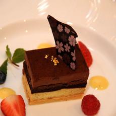 チョコレートとピスタチオのケーキ