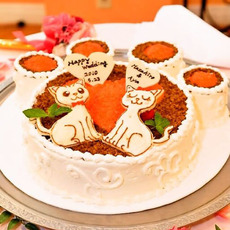 ねこちゃんの肉球ケーキ