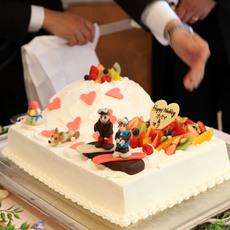 雪山ケーキ