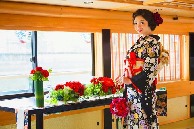 屋形船 結婚式 深川冨士見の画像