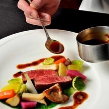 それぞれの素材がフランス料理という場で出逢い魅力を放ちます
