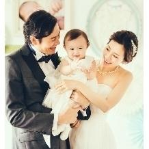 お子様が生まれてからの結婚式も完全サポートいたします。