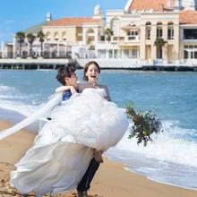 百道浜での前撮りも人気♪ビーチ挙式のご希望ならお話を!