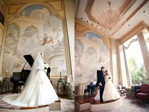 美しい大壁画前は花嫁が一層輝く場所!前撮りのみのロケーション
