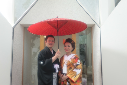 鎌倉 結婚式 和婚 和装 レグリーズ 色打掛 紋服