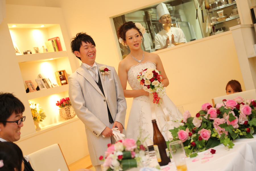 鎌倉 結婚 レストランウエディング レグリーズ 家族 食事会