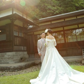 横浜 結婚式 ガーデン セレモニー 家族 三渓園