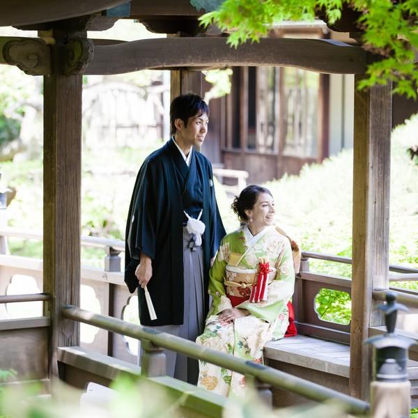 横浜 結婚式 写真 三渓園 庭園