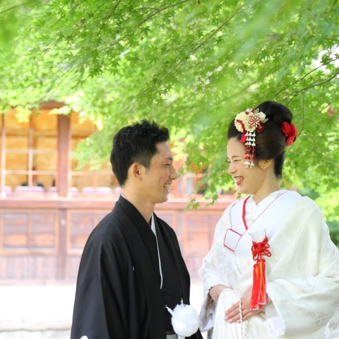 どの季節も自然の美しい三渓園だからこそ叶うロケーション撮影もご結婚式当日に叶う!