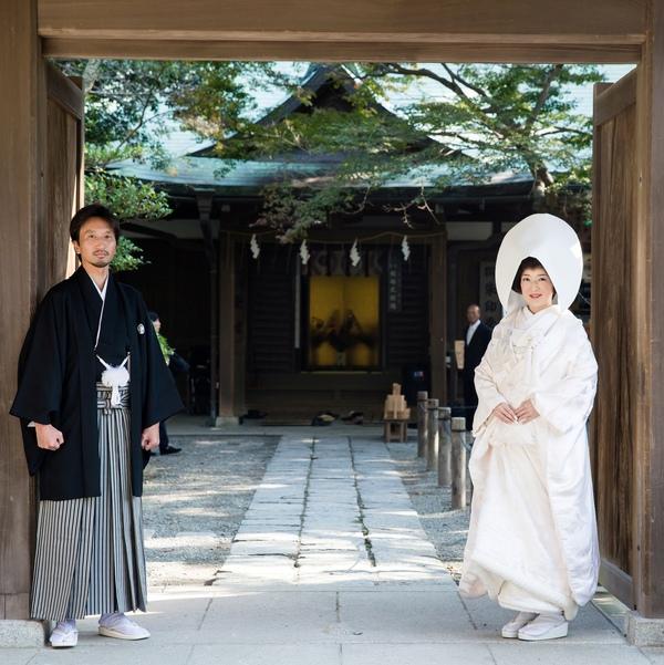 家族で結婚式 鎌倉宮 神前式