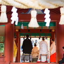 憧れの和婚♪鶴岡八幡宮で。