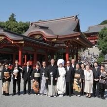 鎌倉 鶴岡八幡宮 神前式&会食 家族 食事会