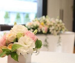 装花はお店で用意してくれました