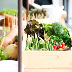 野菜ブッフェなどシエロイリオならではのオリジナル料理演出