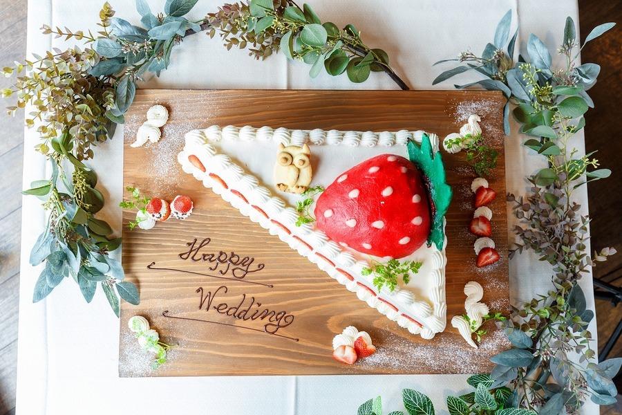 ウエディングケーキのオプションを付けて「幸せのおすそ分け」