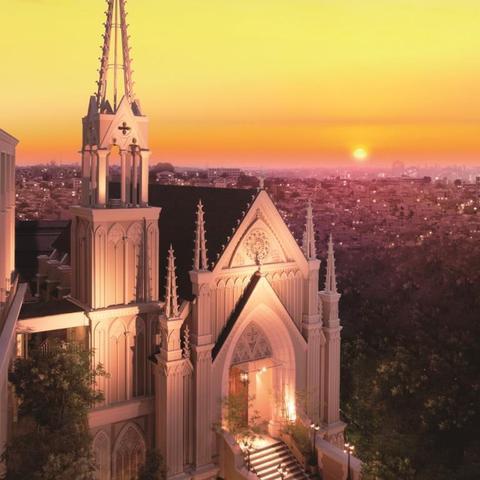 横浜の町をみおろす歴史ある丘にたたずむ