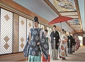 89年の歴史ある神殿での本格神前式