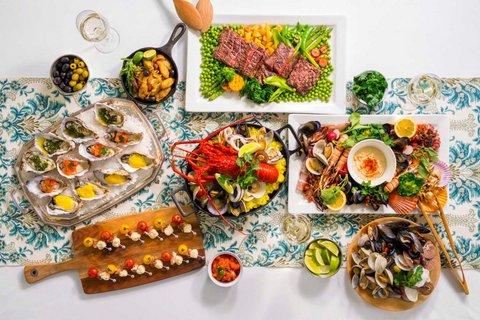 相模湾で獲れた魚介類を直送。地元ならではの新鮮な食材を味わうことができるのは、湘南エリアならでは。