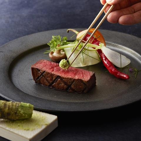 【シェフの想い】素材へのこだわり自慢のメイン料理は和牛フィレ肉の網焼き すりたての本わさびと熟成醤油