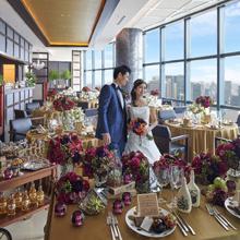 地上215mの絶景を眺めながらお食事会を