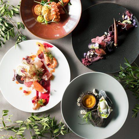 シェフが世界各国から厳選の食材をこだわりの技法で駆使したモダンフレンチ