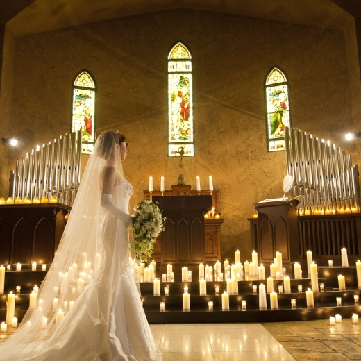 花嫁の美しさが、最も際立つ大聖堂