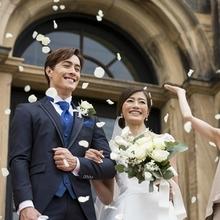 天井高17mの大聖堂での本物の結婚式
