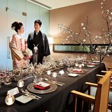 都内人気神社で挙式の後はプライベートルームでゆったり会食