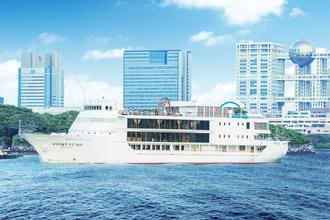 東京湾クルーズを楽しみながらの船上会食