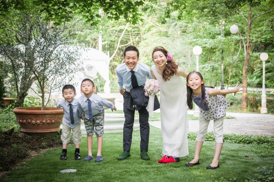 箱根 リゾート フォトウェディング 結婚写真 家族 バンブー